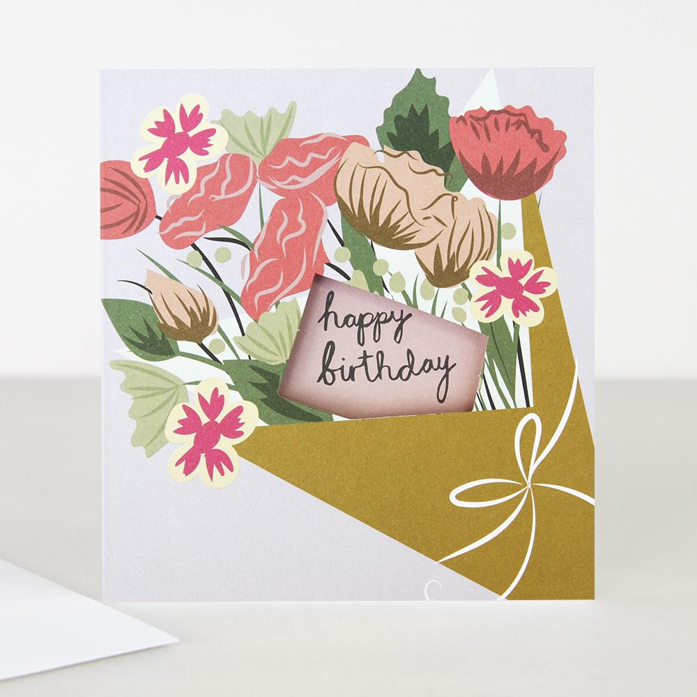 Lunette Bunch Of Flowers Happy Birthday Card Scandi Agency