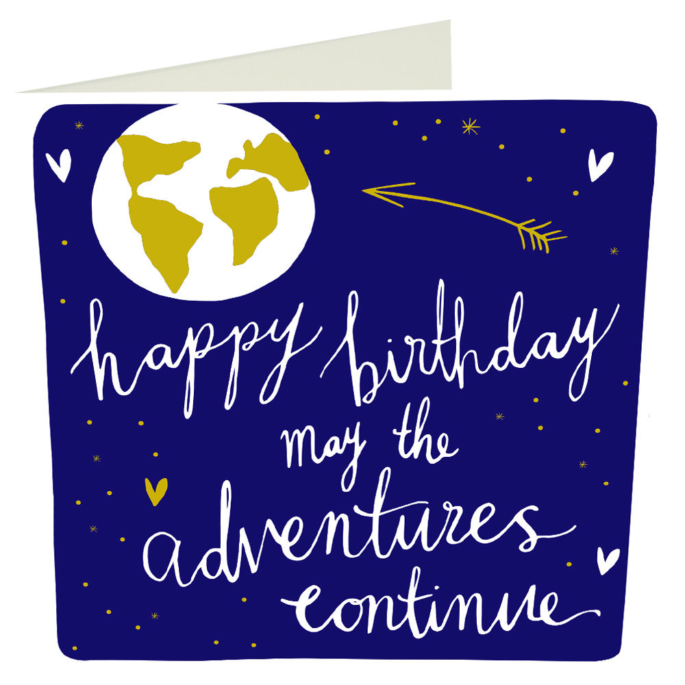 Modern Calligraphy Happy Birthday Adventures Card Scandi Agency